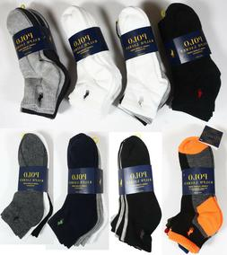 Polo Ralph Lauren Athletic 6 Pair Quarter Crew Socks Mens bl