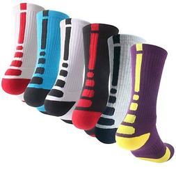 new products c6dfc 34c13 Boys Athletic Basketball Socks Youth Elite Sport Hiking Outd