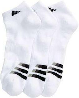 adidas 3-pk. Athletic Cushioned Low-Cut Socks