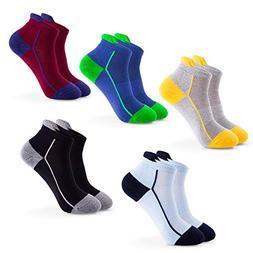 IDEGG Womens Athletic Low Cut Ankle Socks 5 Pairs No Show Pe
