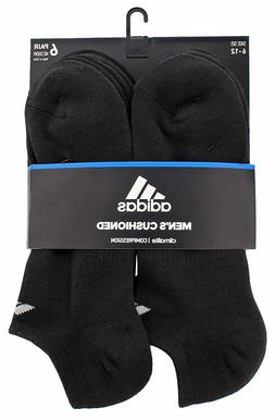 adidas Men's Cushioned Athletic No Show Socks , Black/Alumin