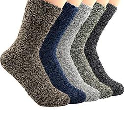 Zando Athletic Sports Knit Pattern Womens Winter Socks Crew