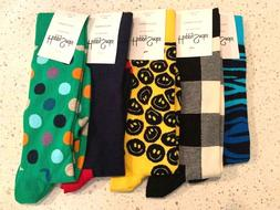 Authentic Happy Socks Men's 5 pair Assorted Patterns Size 10