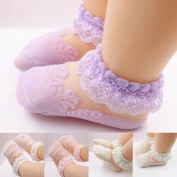 Baby Girls Kids Socks Cotton Lace Breathable TUTU Socks Fril