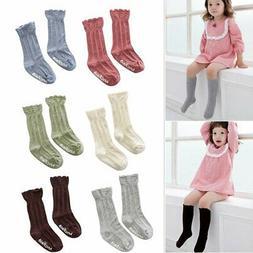 Baby Toddler Girls Breathable Knee High Leg Warmer Long Stoc