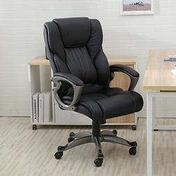 Belleze High Back Executive PU Leather Office Chair, Black