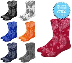 LEAF Republic Bandana Print Socks Paisley Design Cotton