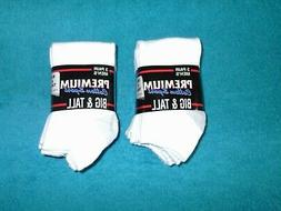 Big &Tall Athletic No Show Socks 6 Pair Fit Men Shoe Sizes 1