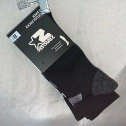 Starter Big Kids Unisex 2-Pack Soccer Socks, Black With Whit