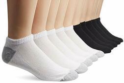 Gildan Men's Big and Tall No-Show Socks , Black, White, Shoe
