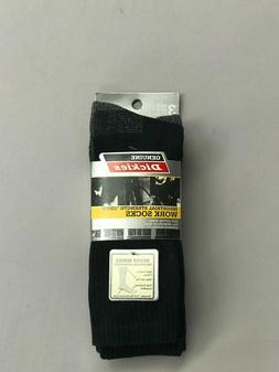 Dickies Black Crew Work Socks Size 10-13. 3 Pairs! 6 Pairs!
