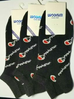 BLACK/GRAY CHAMPION ANKLE SOCKS! Casual/Athletic Wear M/L Fi