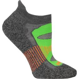 BALEGA BLISTER RESIST CHARCOAL/LIME NO SHOW RUNNING SOCKS UN