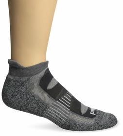 BALEGA BLISTER RESIST GREY L NO SHOW RUNNING SOCKS UNISEX  A