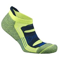blister resist yellow no show running socks