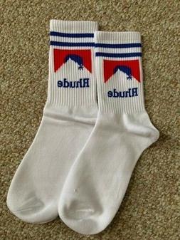 RHUDE Blue & Red Logo Socks One Size