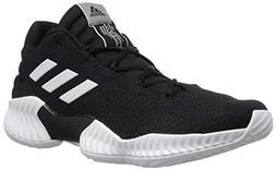 adidas Men's Pro Bounce 2018 Low Basketball Shoe, White/Blac