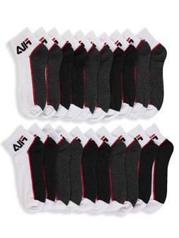 Fila Boys' 10-Pack Quarter Crew Socks