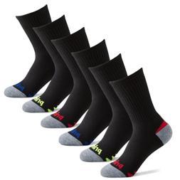 Prince Boys' Crew Athletic Socks for Active Kids  , Black)