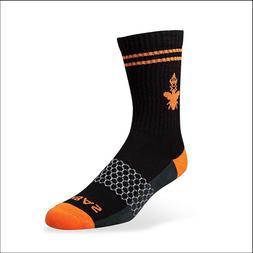 Brand New AUTHENTIC BOMBAS Men's Medium Socks Black/Orange