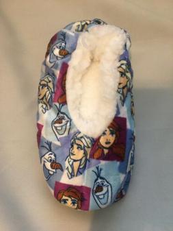 Brand New DISNEY-Frozen 2 Fuzzy Slipper Socks-Size M/L