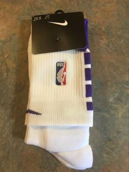 BRAND NEW Nike NBA Lakers Socks Suns Size XXL Elite 2XL Knee