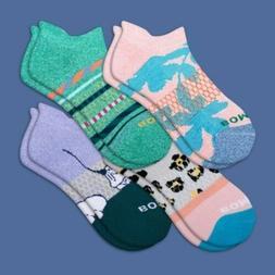 BRAND NEW Bombas Socks Women's Spring Fling Ankle 4 Pack - M