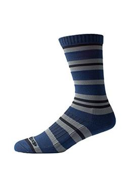 ExOfficio BugsAway Sol Cool Crew Sock, Navy Stripe, Medium/L