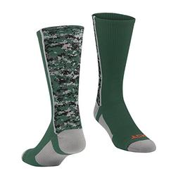 TCK Digital Camo Crew Socks, Dark Green, Large