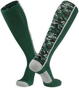 TCK Sports Digital Camo Over The Calf Socks, Dark Green, X-L