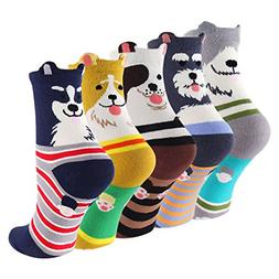 Cartoon Cotton Dog Crew Socks - KEAZA WZ10 Christmas Gift Pa