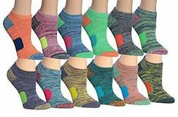 Categories Women's 12-Pairs Space Dye Athletic Performance S