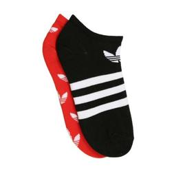 Mens Adidas Originals Trefoil 2-Pair Socks - Black White &