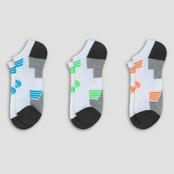 CHAMPION Men NO SHOW Socks 3-Pr WHITE Moisture Wicking Reinf