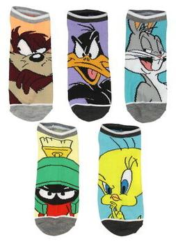Looney Tunes Character Mens And Womens 5 Pack Ankle Socks