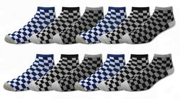 Checker Checkerboard Design Thin Lightweight Low Cut Ankle S