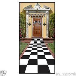 Checkered Floor runner 50s Sock Hop Alice In Wonderland Nasc