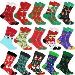 Christmas Tree Snow Elk Gift Cotton Happy <font><b>Socks</b>