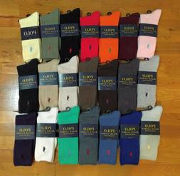 Polo Ralph Lauren Classic Crew Cotton Spandex Socks Size 10-
