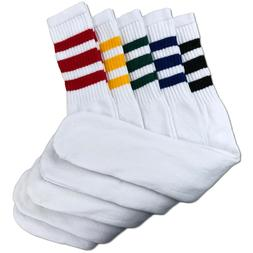 classic multi striped tube socks