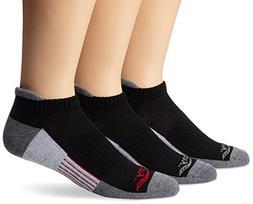 Saucony Men's 3 Pack Classic Runner No Show Tab Socks, Black