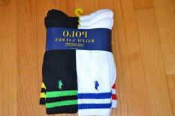 Polo Ralph Lauren Colored Double Bars Classic Crew Socks Men
