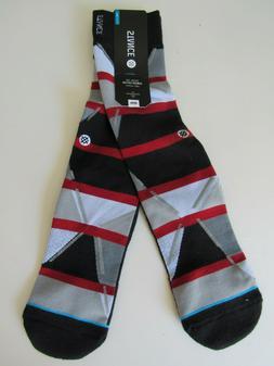 Stance Combed Cotton Light Cushion Socks Mens L/XL NWT Black