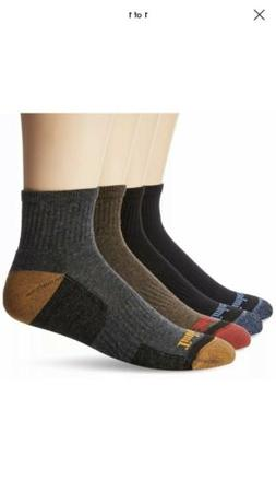 Timberland Men's 4 Pack Comfort Low Quarter Sock, Assorted B