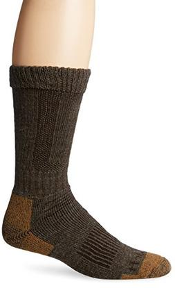 Carhartt Men's Comfort Stretch Steel Toe Socks,  Brown, Shoe