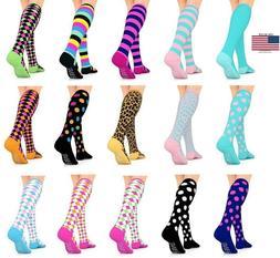 Go2 Compression Socks Fashion Line 15-20 mmHg Women Girls Me