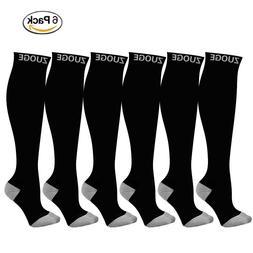 6 Pairs Compression Socks Women Men Running Fitness 15-20 mm