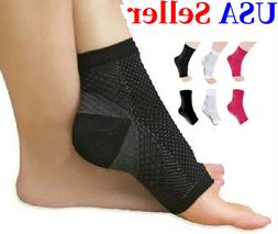 Compression Support Ankle Sleeve Socks PLANTAR FASCIITIS Hee