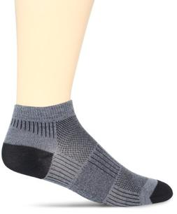 WrightSock Men's Coolmesh II Lo Single Pack Socks, Light Gre