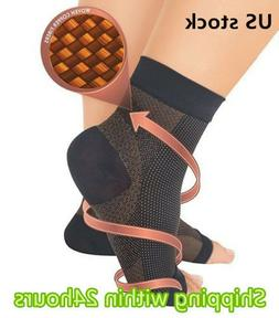 Copper Compression Foot Sleeve Plantar Fasciitis Angel Ankle